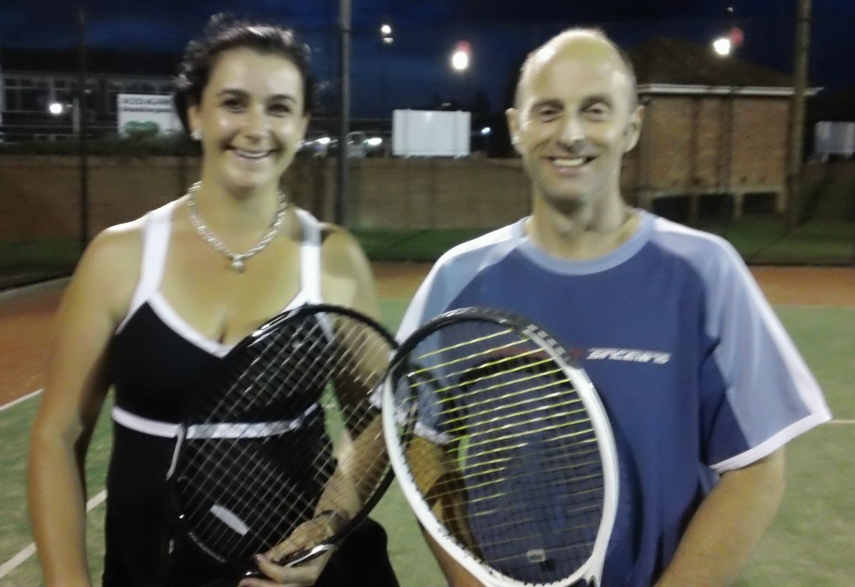 B Grade Mixed Doubles Winners 2012